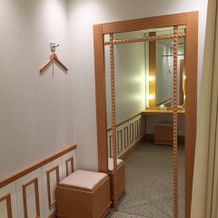 ゲストの化粧室にある更衣室