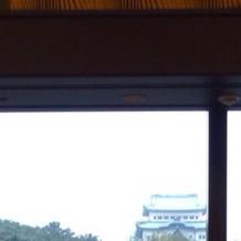 披露宴からみえた名古屋城です