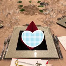 きれいなテーブルセッティングでした。