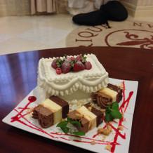 自分たち用ケーキ