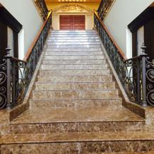 チャペルへ続く階段