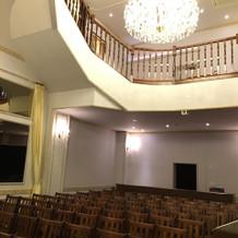 ホールです。