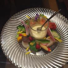 お野菜と魚介のお料理