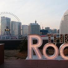 屋上は、これぞ横浜!という感じ。