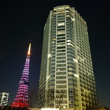 ホテルと東京タワーの夜景も素敵でした!