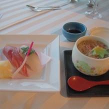 お寿司と茶碗蒸し