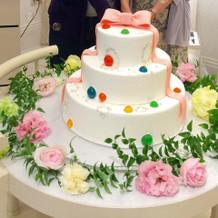 三段のケーキは立派