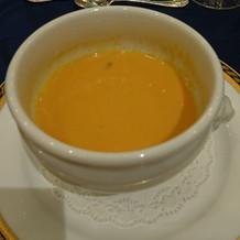 甘い人参のクリームスープ