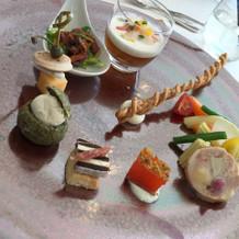 前菜です。長野県の素材を沢山使ってます