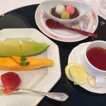 果物と甘味