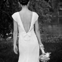 ドレスは母のお手製で好みが詰まったドレス