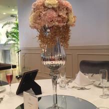 披露宴会場テーブル装花