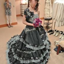 青ドレス(桂由美)