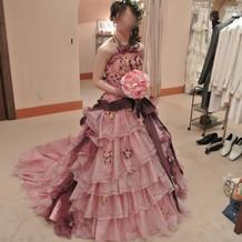 ピンクドレス(桂由美)