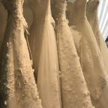 ドレスの種類が豊富です。