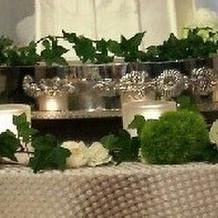ケーキテーブル装花 追加料金発生