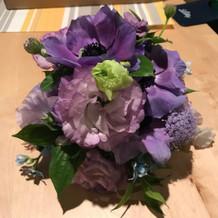 事前に作ってもらったサンプル装花