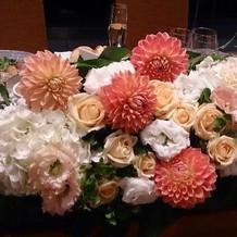 お花専門の担当者がいます。