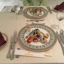 フェアで試食した披露宴用コース料理01