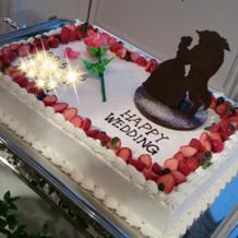 ケーキもイメージ通り