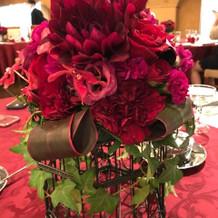 花器は数種類から好きなものを選べました