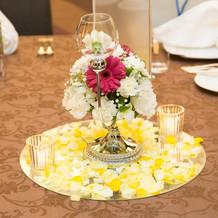 本番時のゲストテーブル装花2