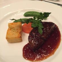 メインの牛フィレ肉