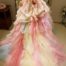 使用したカラードレス