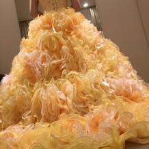 試着させてもらったドレス