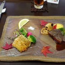 肉料理(和牛ステーキ)魚料理(甘鯛)
