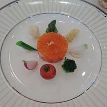 色鮮やか野菜とカルパッチョ
