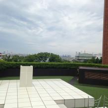 ガーデンチャペルからの景色は良いです