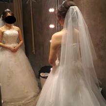 最終的にこのドレスに決定しました