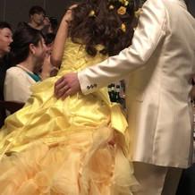 髪型とドレスが合っていてお気に入り