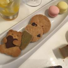 クッキーも手作りでした