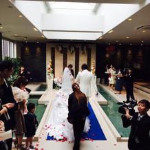 挙式後のウォーターステージ。