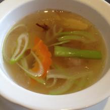 野菜のスープです。