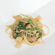 特選銘柄豚ラグーソースのスパゲッティーニ