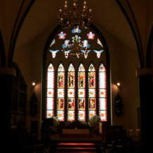 伝統のステンドグラス