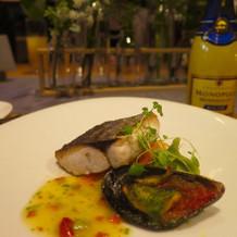 白身魚とムール貝