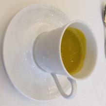 濃厚なかぼちゃスープ。