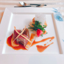 当日は魚と肉別々みたいです、美味でした