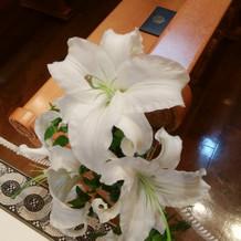 チャペルのお花