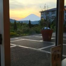 食事しながら富士山!
