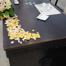 新郎新婦のテーブル