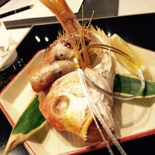 食べやすいように調理してくださった、鯛