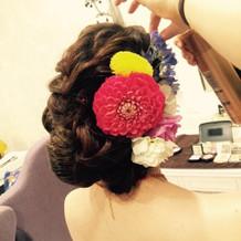 カラードレス用ヘアスタイル
