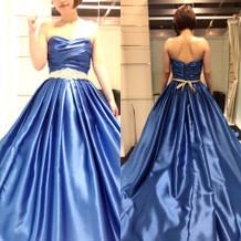 ロイヤルブルーカラードレス