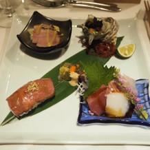 19000円コースの前菜。いきなり豪華