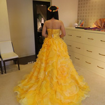 試着したドレスです